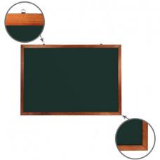 Доска для мела магнитная (100х150 см), зеленая, деревянная окрашенная рамка, Россия, BRAUBERG, 236894