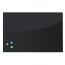 Доска магнитно-маркерная стеклянная (40х60 см), 3 магнита, ЧЕРНАЯ, BRAUBERG, 236745