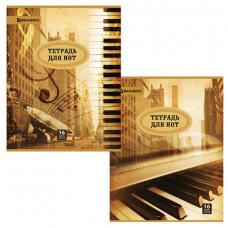Тетрадь для нот А4, 16 л., BRAUBERG, обложка мелованный картон, вертикальная,