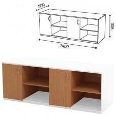 Стол (ПАКЕТ 2) для кабинета физики, 2400х800х900 мм, ЛДСП бук/пластик