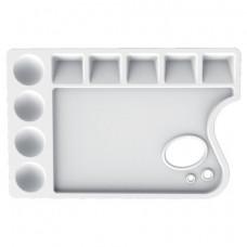 Палитра для рисования ЛУЧ пластиковая, прямоугольная с отверстием, 23х15 см, толщина 10 мм, 29С 1729-08