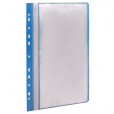 Папка 10 вкладышей STAFF с перфорацией, мягкая, синяя, 0,16 мм, 224974