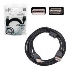 Кабель-удлинитель USB 2.0, 1,8 м, CABLEXPERT, M-F, 1 фильтр, для подключения периферии, CCF-USB2-AMAF-6