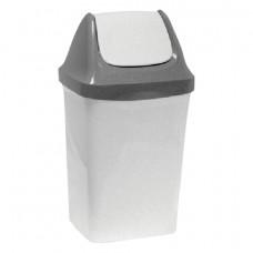 Ведро-контейнер 15 л, с крышкой (качающейся), для мусора,