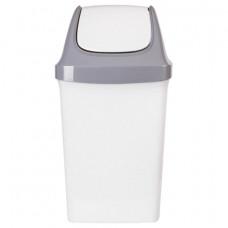 Ведро-контейнер 50 л, с крышкой (качающейся), для мусора,
